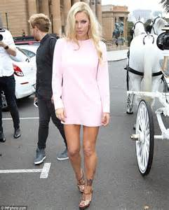 sophie monk flashes rose tattoo at her tinderella ball