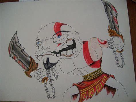 imagenes de kratos para dibujar faciles kratos caricatura pintada a lapiz paso a paso arte