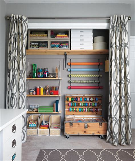 craft room closet storage ideas taking the closet from scary to airy after 9 craft room