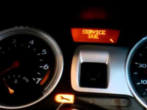 how to reset a service indicator light on a 2006 renault