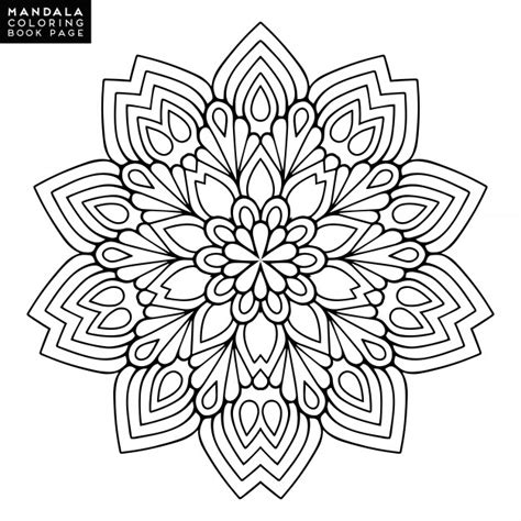 mandala coloring pages vector outline mandala for coloring book decorative