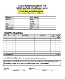 construction material request form template 22 requisition forms in doc