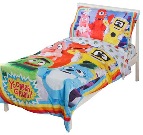 yo gabba gabba bedding yo gabba gabba toddler bedding set rainbow friends
