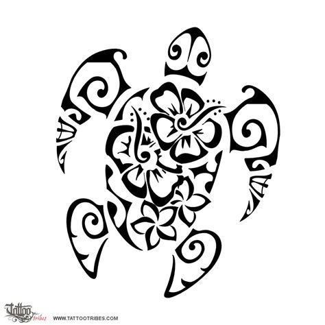 tribal tattoos representing family flowers turtle femininity the turtle is a symbol for