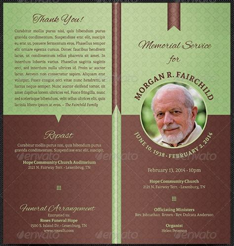 17 Funeral Program Templates Free Premium Templates Funeral Template