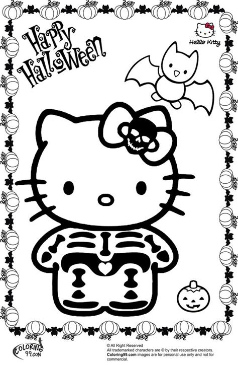 hello kitty zombie coloring page coloring halloween skeletons and colouring pages on pinterest