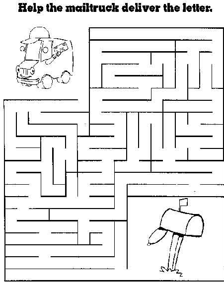 printable activity sheets for 8 year olds printable activities for 7 year olds medium maze mailtruck