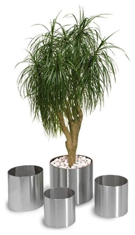 stainless steel outdoor planters outdoor pots and