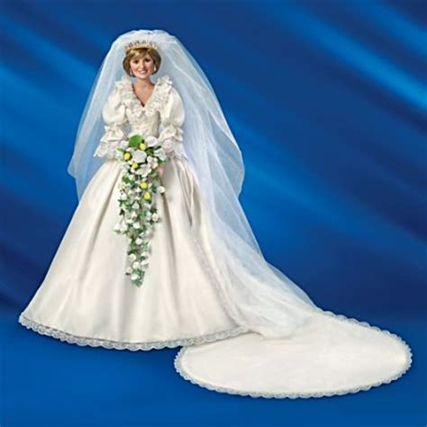 porcelain doll wedding dress quot princess diana quot 35th anniversary doll
