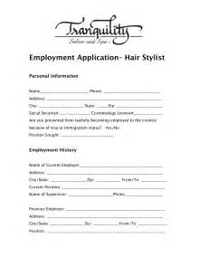 salon application form pictures to pin on