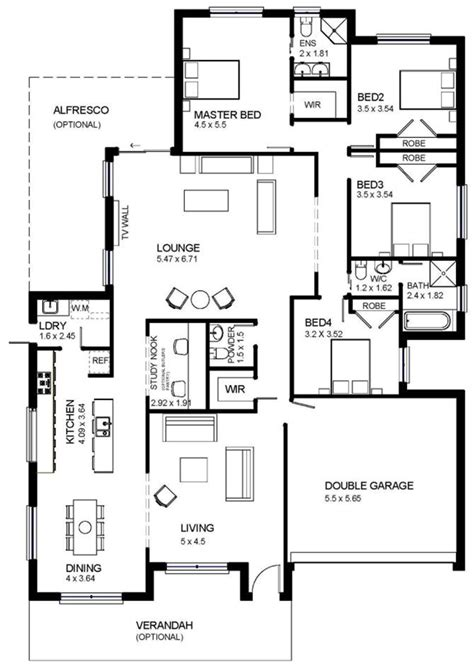 single storey floor plan buildworx constructions home designs single storey homes