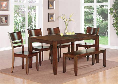 7pc lynfield kitchen dining table w 6 plain wood seat