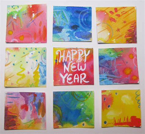 happy new year paintings illustration abbydora design page 2