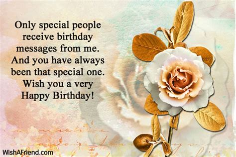 Special Happy Birthday Wishes Only Special People Receive Birthday Messages Happy