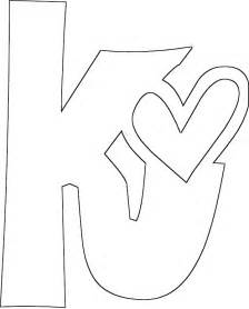 color with k letter k coloring page