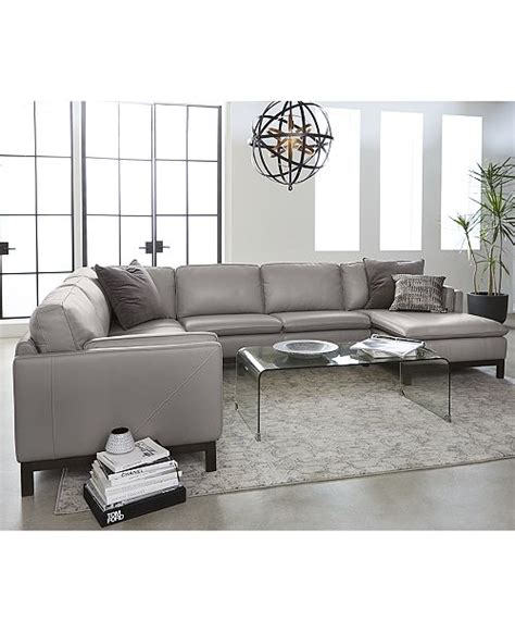 Macys Sectional by Furniture Ventroso Leather Sectional And Sofa Collection