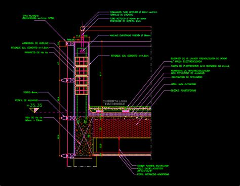 Parapet Detail Terrace DWG Detail for AutoCAD ? Designs CAD