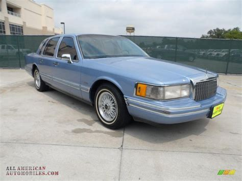 1994 lincoln town car blue 200 interior and exterior images