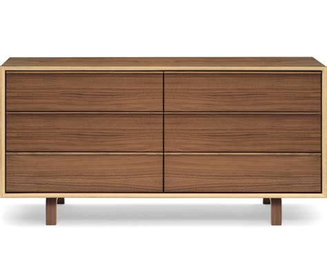 chicopee modern 6 drawer dresser cherner 6 drawer dresser hivemodern