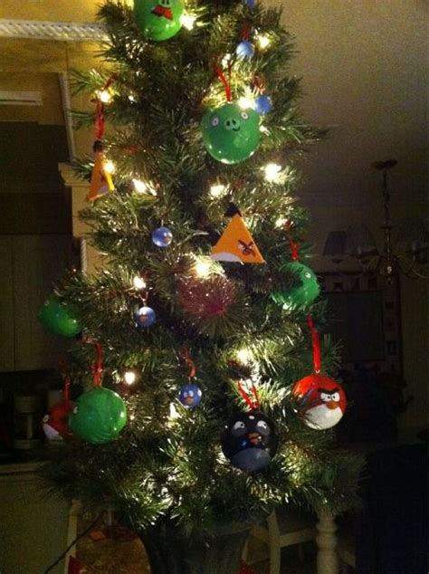 angry birds ornaments christmas trees pinterest