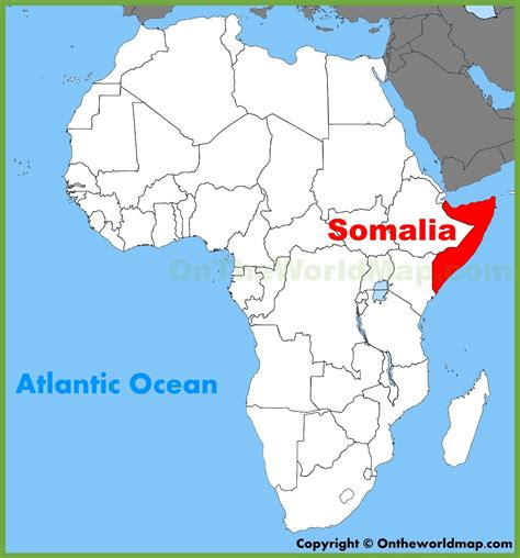 somalia on world map somalia location on the africa map