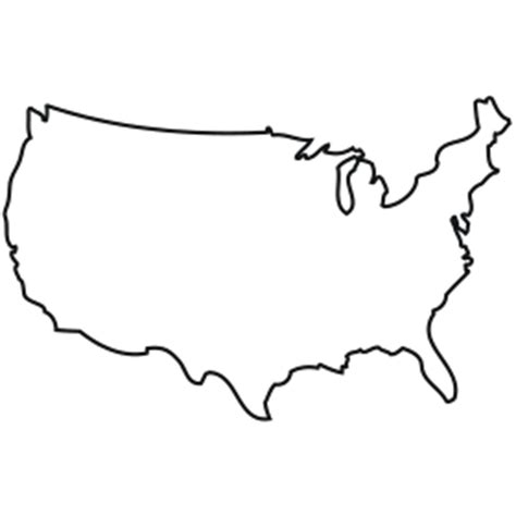 us map outline clip outline of usa clipart best