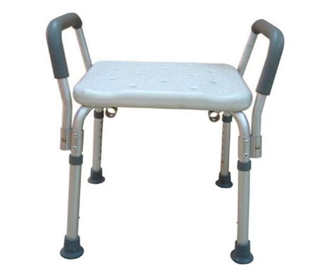 shower bench with arms bath bench adj ht w o back remov padded arms