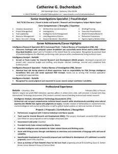 Criminal Intelligence Analyst Cover Letter by Resume