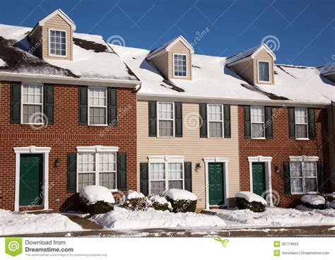 american colonial house american traditional winter townhomes brick and wo stock