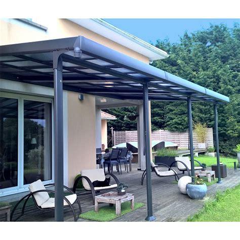 terrassenüberdachung alu 4 x 5 tonnelle adoss 233 e aluminium toit polycarbonate 3 5x6 m