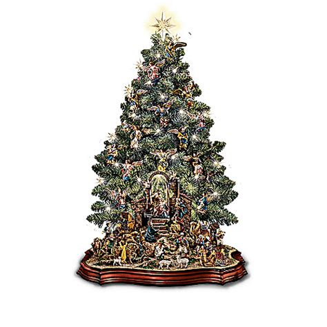 bradford pine miracle christmas tree by puleo nativity sets water globes figurines boxes
