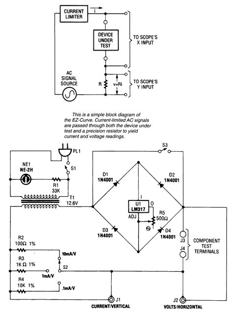 diode curve tracer schematic simple curve tracer measuring and test circuit circuit diagram seekic