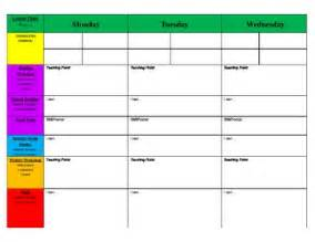 lesson plan template primary weekly primary blank lesson plan template by kickin