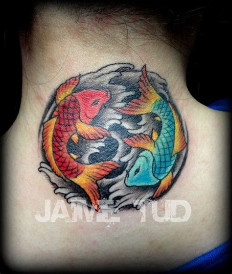 ying yang in koi fish style dejavu tattoo studio 44 best images about koi yin yang tattoos on pinterest