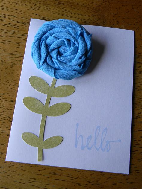 Paper Craft Greeting Cards - rosette greeting card organize and decorate everything