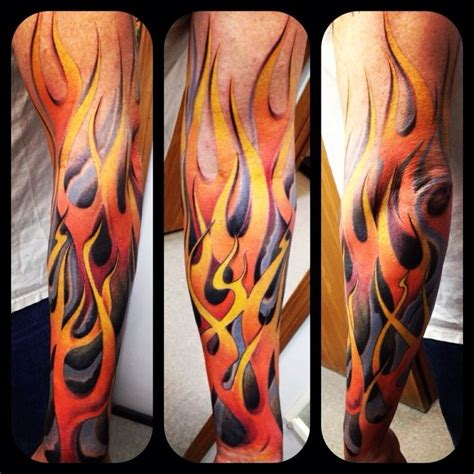 tribal flame sleeve tattoo best 25 tattoos ideas on