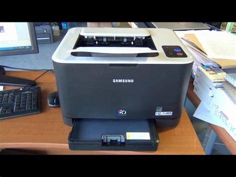 reset printer samsung clp 325 samsung clp 325w youtube