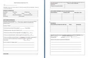 Application Forms Templates by Sle Templates Page 2 Of 20 Free Formats Excel Word