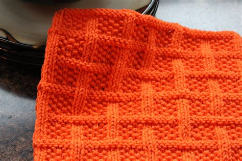pattern for knitting a dishcloth square lattice dishcloth leah michelle designs