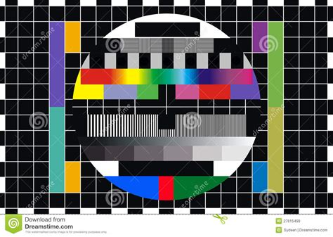 pattern tester tv screen test stock illustration image of colorful