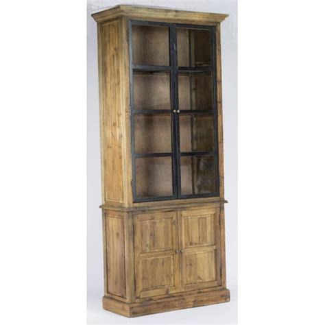armoire bois recyclé armoire buffet portes vitr 233 es m 233 tal 233 tag 232 res bois recycl 233