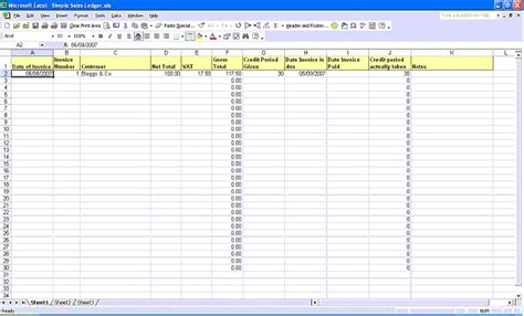 sales and purchase ledger template simple sales ledger in excel iv the happy accountant