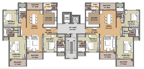 Gallery Apartment Floor Plan Apartments Architecture Excellent 2 Typical Luxury