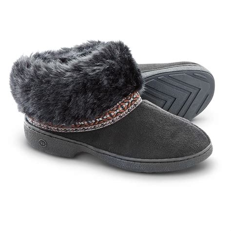black isotoner slippers s isotoner elissa slipper boots black 622136