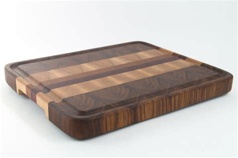 Handmade Wooden Cutting Boards - handcrafted wood cutting board end grain walnut cherry