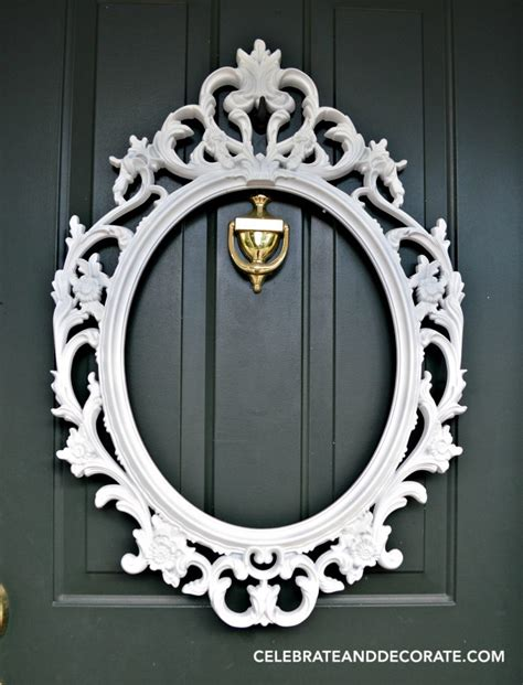 diy picture frame wreath celebrate decorate