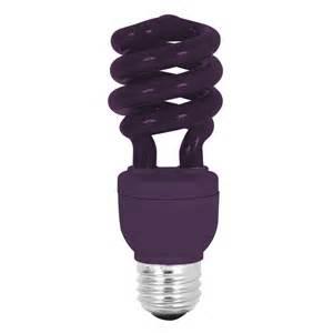 colored light bulbs lowes shop mood lites purple t3 cfl decorative light bulb at