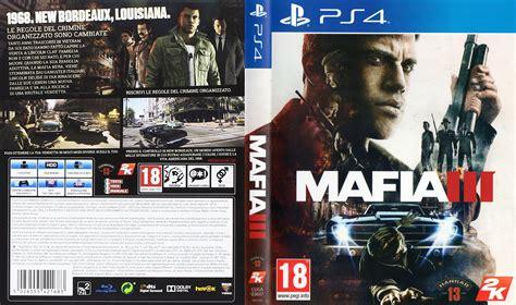 Ps4 Mafia Iii 3 mafia 3 dvd cover 2016 pal ps4 italian