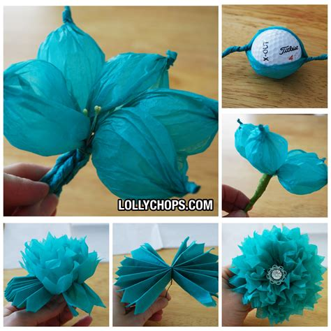 Tissue Paper Crafts - tissue paper paper flowers