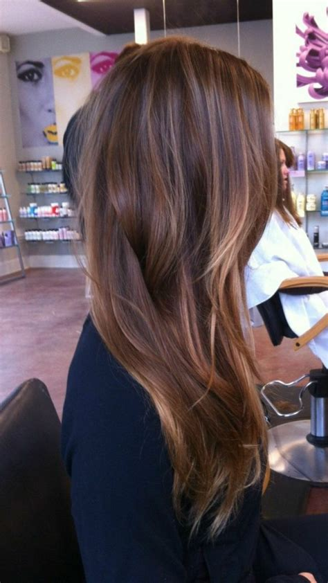 long brown hairstyles with parshall highlight how to go le marron glac 233 d 233 couvrez la couleur de cheveux tendance